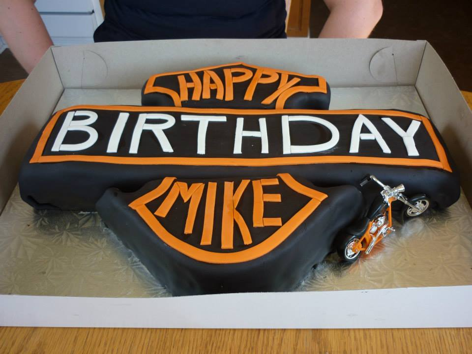 Harley Davidson Logo Cake Be A Guest At Your Own Event
